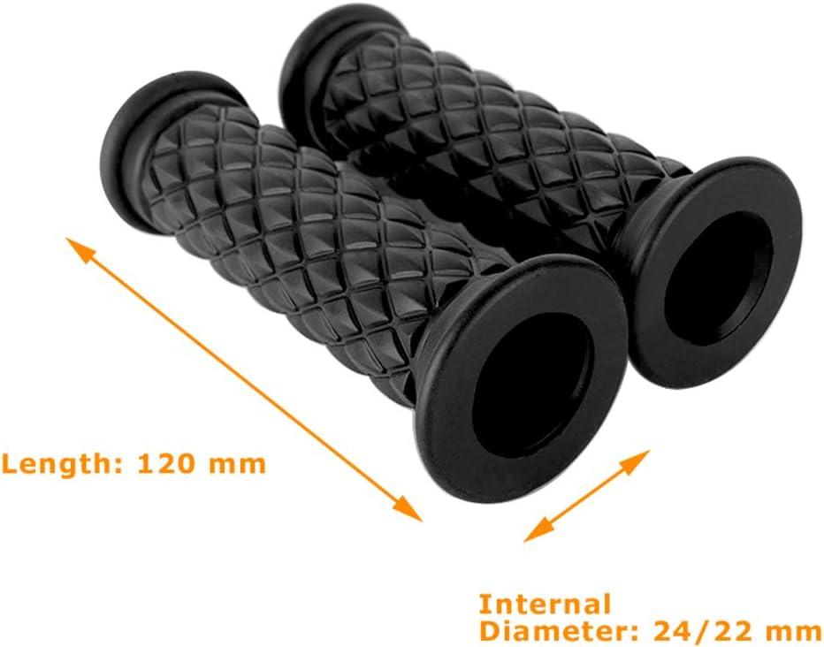 7//8 antid/érapantes 22 mm mat/ériaux respectueux de lenvironnement en TPU Evermotor poign/ées de guidon de moto 1 24 mm
