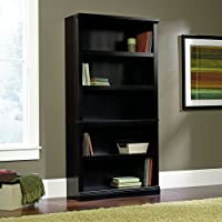 Sauder Select 5 Shelf Bookcase in Estate Black Finish
