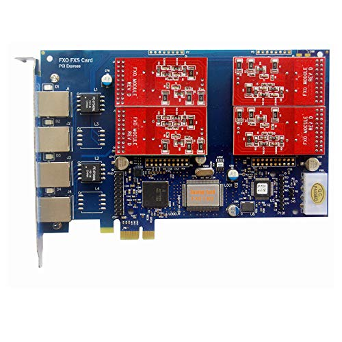 - Analog FXO Card with 4 FXO Ports,PCI Express (PCI-E) Connector,For Issabel ,Freepbx,AsteriskNow tdm410e tdm400e