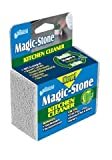 Compac's Magic-Stone Kitchen Cleaner Scrub - 2-Sided Scouring Brick/Sponge with Advanced, Green Technology, Easily Removes Stubborn Grime, Grease, Food from Oven Trays, Pans, Cookie Sheets (4 Count)