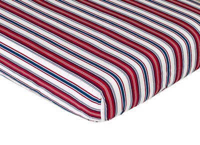 Sweet Jojo Designs Nautical Nights Fitted Crib Sheet Baby/To