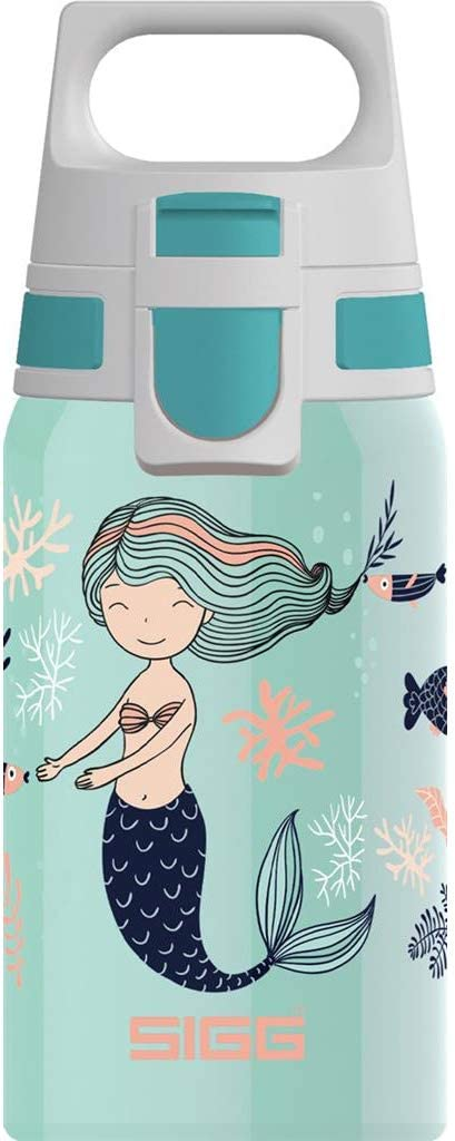 Sigg Shield One Atlantis Bouteille en INOX Unisex-Youth Turquoise 0.5 L