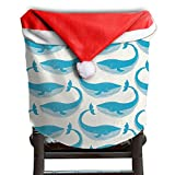 Whale Animal Christmas Chair Covers Great Strong Hang Around Chair For Men And Women Armless Chair Slipcover Holiday Festive