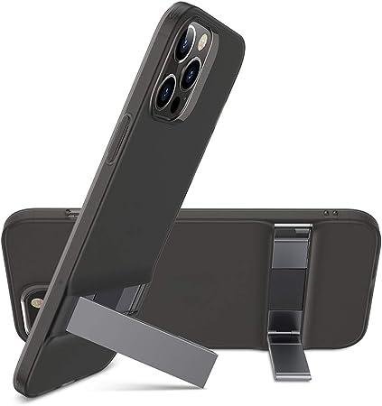 ESR Cover Compatibile con iPhone 6.1 Pollice 12 e 12 PRO, Custodia con cavalletto in Metallo, 2 Posizioni, Nero