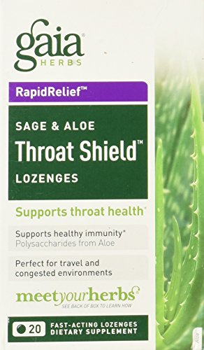 GAIA HERBS Throat Shield Lozenges, 0.17 Pound (Shield Lozenges Throat)