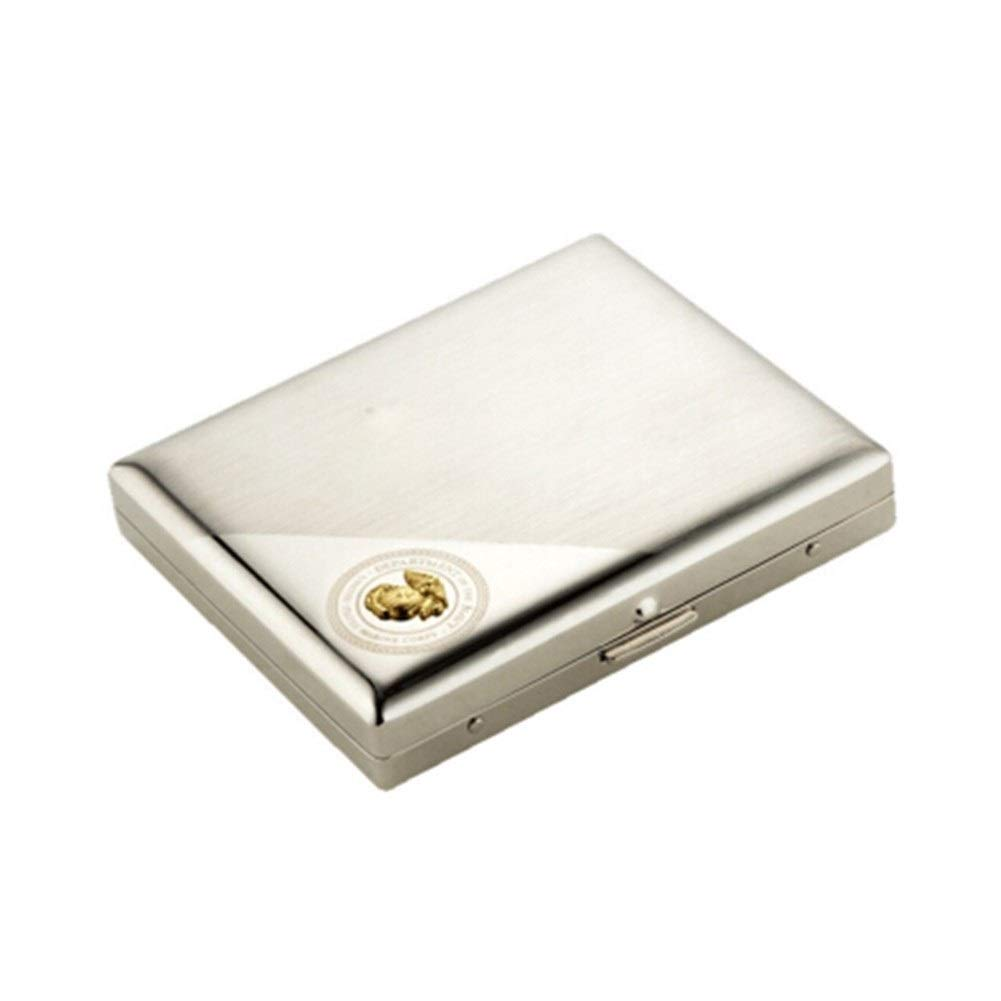 WENPINHUI Cigarette Case, 20-Piece Stainless Steel Cigarette Case, Men, Automatic Smoke, Ultra-Thin, Easy to Carry - The Best Gift