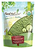 Organic Wheatgrass Powder, 1 Pound - Non-GMO, Whole-Leaf, Raw, Non-Irradiated, Pure, Vegan Superfood, Bulk, Great for Juice, Rich in Fiber, Chlorophyll, Fatty Acids and Minerals