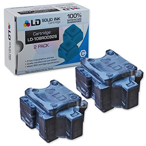- LD Compatible Solid Ink Stick Replacements for Xerox ColorQube 8570 108R00926 (Cyan, 2-Pack)
