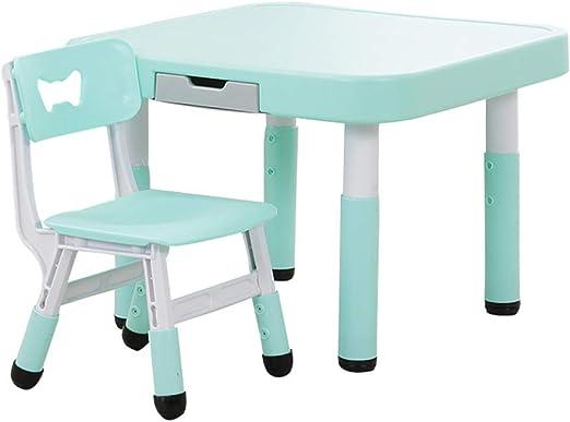 Conjunto mesa y silla Mesas Y Sillas De Estudio para NiñOs, Mesas De Juegos De PláStico para El Hogar, Mesas De Pintura, Utilizadas En Jardines De Infancia, Centros De EducacióN Temprana: Amazon.es: