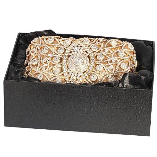 Bags Clutch Evening Digabi Gold Cylindrical Crystal Silver Shape Women XYXqA
