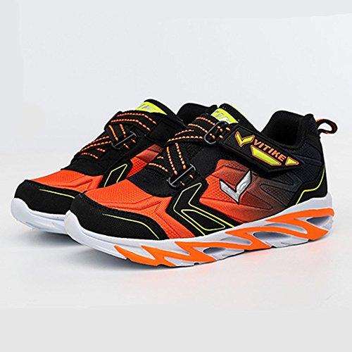 ASHION Zapatos de deportes al aire libre de los niños Naranja
