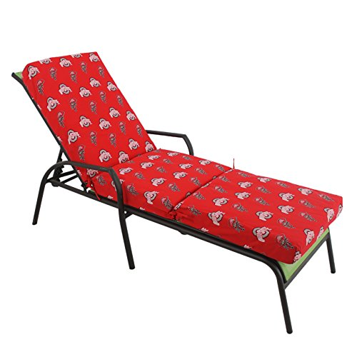 (College Covers Ohio State Buckeyes 3pc Chaise Lounge Cushion)