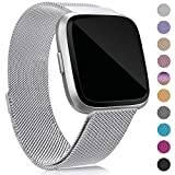 Find-MyWay Compatible with Fitbit Versa Bands/Versa Lite Bands,Versa Accessories Wristband Mesh Stainless Steel Bracelet for Women Men Strap for Fitbit Versa/Lite/Special Edition