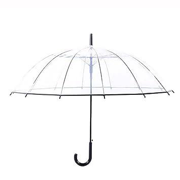 Paraguas Transparente De Mango Largo, Paraguas Simple, Paraguas De Plástico Liviano, Superficie De