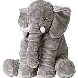 Rainbow Fox Baby Stuffed Elephant Plush Pillows Grey, 24 Inches