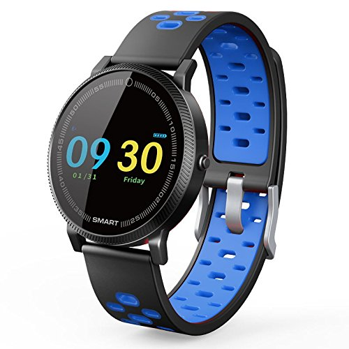 BOND F4 Smartwatch Color Screen Blood Pressure Heart Rate Monitor Smart Wristband For Android IOS Phone (BLUE)