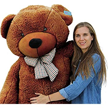 71d71072c3d Amazon.com  Giant Teddy Brand 6 Foot Life Size Mocha Brown Color Big ...