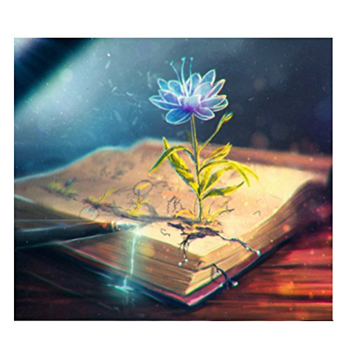 Healifty Kit Punto de Cruz Diamante 5d Resina Bricolaje Bordado Pintura Paisaje Flor Libros Mágicos Decoración de la Pared