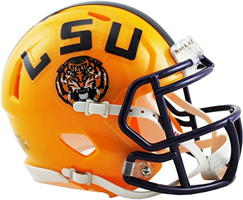 Sports Memorabilia Riddell LSU Tigers Revolution Speed Mini Football Helmet - College Mini Helmets College Football Team Helmets