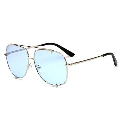 Yuany Gafas de Sol para Hombre Remache de Personalidad de ...