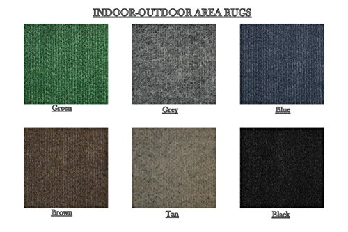 (Indoor-Outdoor Ribbed Pattern Light Weight Area Rugs for Balcony, Deck, Gazebo, Patio, Lawn, etc. (Many colors and sizes to choose from) (12'x15', Brown))