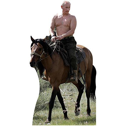 (Wet Paint Printing + Design H10132 Shirtless Putin Riding Horse Cardboard Cutout)