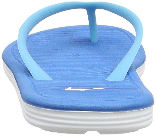 II Femme White Solarsoft Tongs Bleu Dark Nike Thong Blue Clearwater Electric pwn7EqIIBH