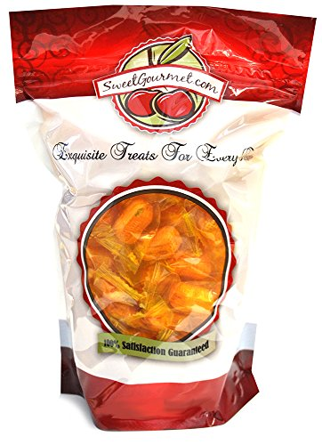 SweetGourmet Honeycombed Wrapped Filled Peanuts, 1LB Peanut Butter Hard Candy