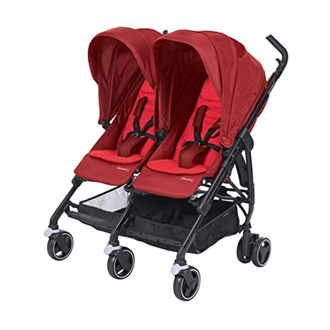 Bébé Confort Dana For2 - Silla de paseo gemelar, color vivid red