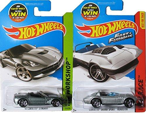 FAST & FURIOUS 2015 Hot Wheels set HW Race # 179 Corvette Grand Sport Roadster & Stingray Convertible