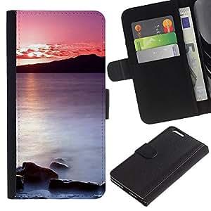 Ihec-Tech / Flip PU Cuero Cover Case para Apple Iphone 6 PLUS 5.5 - Sunset Sea Beautiful Nature 20