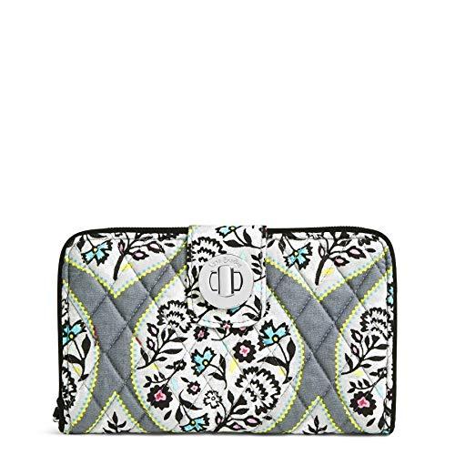 Vera Bradley Women's Rfid Turnlock Wallet - Signature, heritage leaf, One - Checkbook Cover Signature