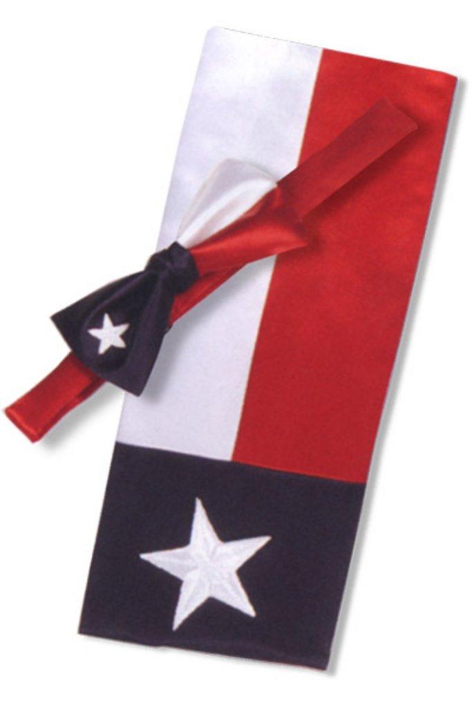 Red, White and Blue Texas Star Cummerbund and Tie Set by David's Formal Wear