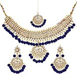 Product review for YouBella Jewellery Bollywood Ethnic Bridal Wedding Traditional Choker Indian Necklace Set with Earrings for Women