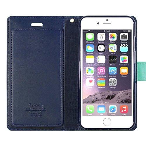 iPhone 6S / 6 Case, [Rich Diary] VENTER® [Drop Protection] [Wallet Hülle] Premium-Soft-Kunstleder Hülle [ID Card & Cash-Slot] Abdeckung für iPhone 6S / 6