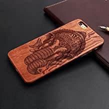 LINFA Retro Nature Wood Case for Apple iPhone 5SSE 6 6S 7 7P Cover Wooden Cases (iPhone 7, elephant)