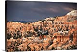 greatBIGcanvas Gallery-Wrapped Canvas entitled Sunlight illuminating the red striped hoodoos in Bryce Canyon Amphitheater, Utah by Circle Capture 30''x20''