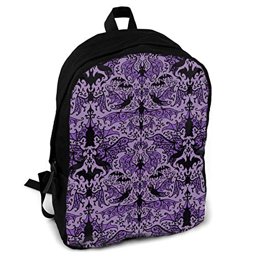 YISHOW Bats in The Belfry Women Men for Casual School Bag Outdoor Travel Camping Backpack
