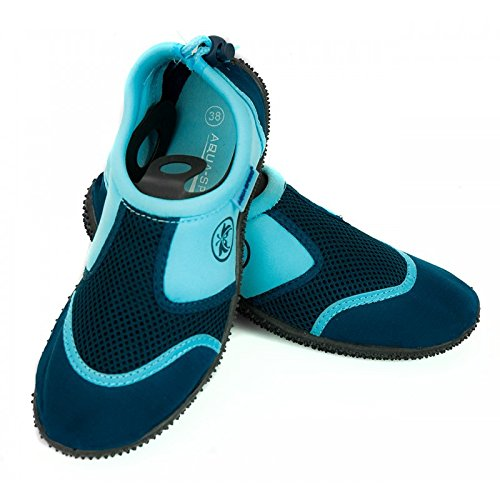 AQUA-SPEED® Zapatos del Aqua 14 + UP®-Llavero | Unisex | Buceo | Piscina | Kayak Blau