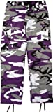cargo camo pants - Camouflage Military BDU Pants, Army Cargo Fatigues (Purple Camouflage, Size Small)