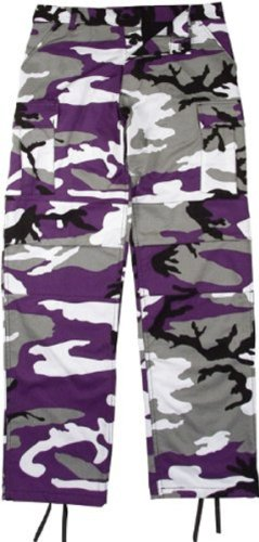 Purple Camouflage Pants - 6