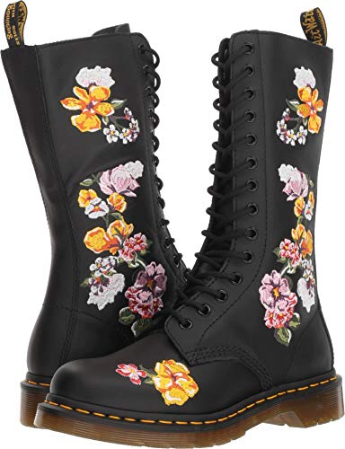 Dr. Martens Womens 1914 Vonda II Black Softy T Floral Pattern Ankle Boots Size 4