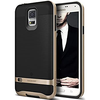 Galaxy S5 Case, Caseology [Wavelength Series] Textured Pattern Grip Cover [Black / Gold] [Shock Proof] for Samsung Galaxy S5 - Black / Gold