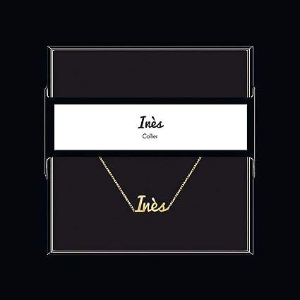 collier prenom arabe ines