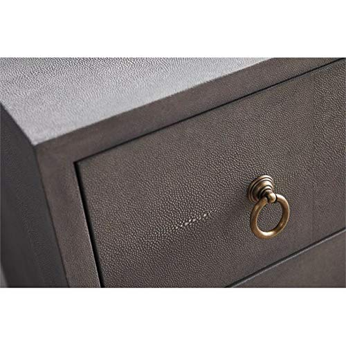 Furniture Home & Kitchen MAKLAINE 3 Drawer Faux Shagreen ...