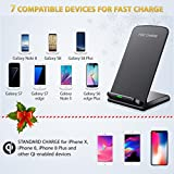 iPhone X Wireless Charger, Seneo Standard Qi Wireless Charger(No AC Adapter) for iPhone X 8 8 Plus, Fast Wireless Charger Pad Stand for Samsung Galaxy Note 8/5 S8/S8 Plus S7/S7 Edge S6 Edge Plus