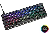 Vortexgear Mechanical Gaming Keyboard Pok3r 60%, ABS Double Shot Translucent Keycaps, RGB LED Backlit, 61 Keys (Aluminium CNC Casing) (Cherry Mx Brown, Black)