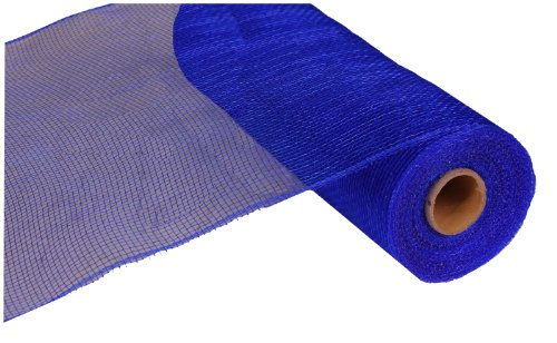(10 Inch x 30 Feet Deco Poly Mesh Ribbon - Royal Blue Non Metallic : RE130225)
