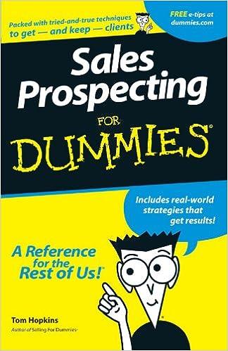 Sales Prospecting For Dummies: Tom Hopkins: 9780764550669: Amazon ...