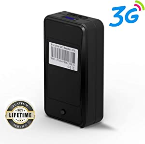 Portable 3G GPS Tracker, Jimi AT6 Mini GPS Tracker w/ 10000mAh Battery &Powerful Magnetic Real-time GPS Tracking Device for Monitoring & Locator Asset/Personal/Vehicle.etc (Lifetime Platform Service)